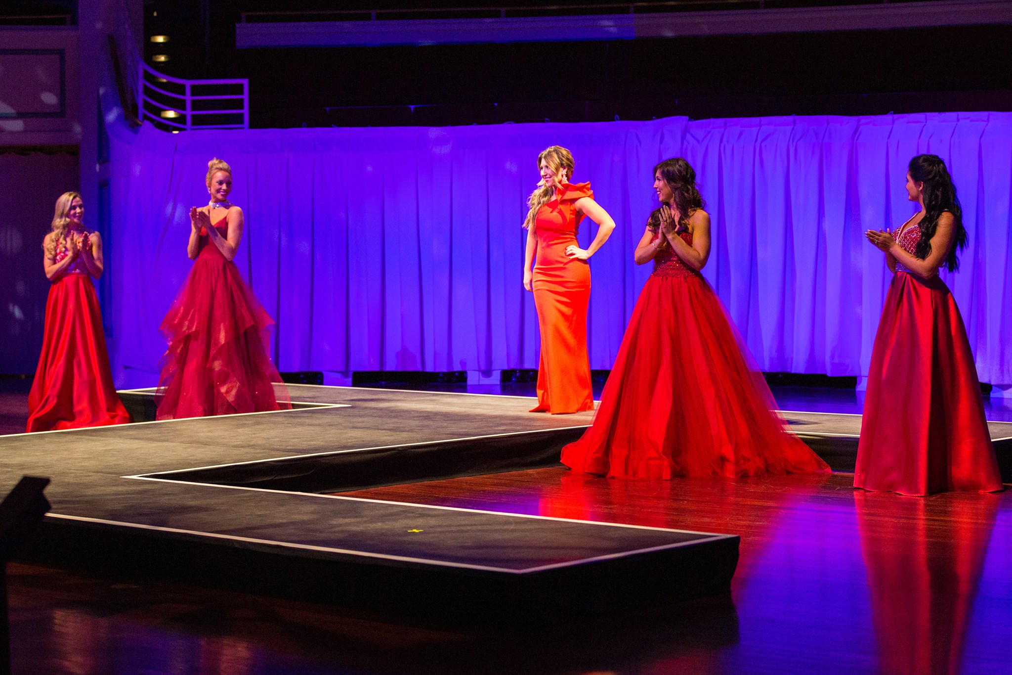 Red dress fashion show